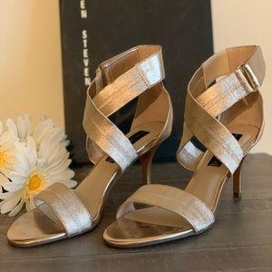 STEVEN by Steve Madden metallic gold sandal
